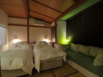 スタンダードスタジオの客室の一例(グリーン)