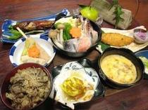 女将特製の心あたたまる料理(夕食例)