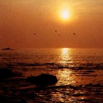 天気が良いと客室から太平洋から昇る朝日が拝めます。