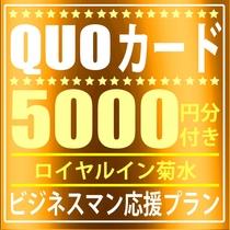 QUOカード5000円付きプラン