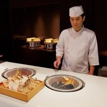 朝食料理(焼き魚)