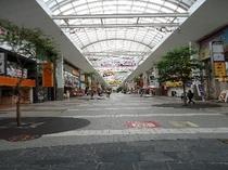 熊本市中心部のアーケード