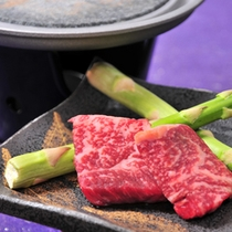 信州牛の石焼ステーキ