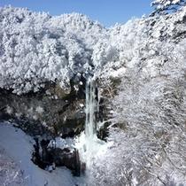 *冬の華厳の滝は幻想的な白さに包まれます。