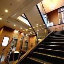 宴会場への階段