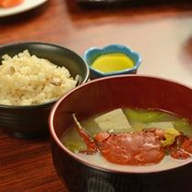 *【夕食一例】炊き込みご飯とお味噌汁