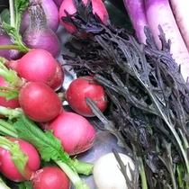 *野菜は減農・無農薬にこだわった契約農家から仕入れております