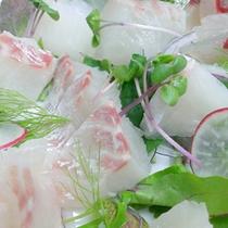 *新鮮魚介のカルパッチョ