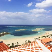 サウスタワーから眺める「サンマリーナビーチ」
