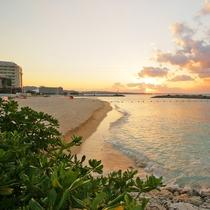 サンマリーナビーチのサンセット