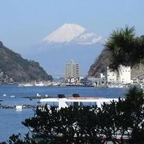 当館から眺める富士山