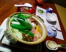 1泊2食付き3500円の夕食の一例です。