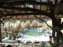 源泉掛け流しの温泉を大自然の風景とともに...