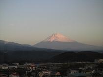 8階展望ロビーから見る富士山(朝)