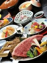 鳥取和牛のステーキ会席「万葉」コース