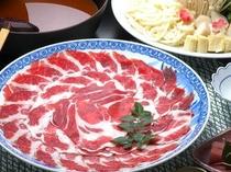 因州しし肉を使用した「ボタン鍋」コース