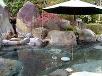 庭園露天風呂「大石の湯」