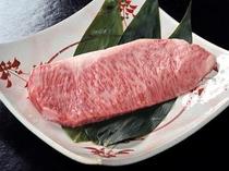 万葉牛のステーキ