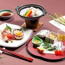 【庄内もっけもっけバイキング】〜テーブルセットメニュー〜季節の前菜・新鮮な海の幸・米の娘陶板焼き