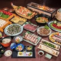 【庄内もっけもっけバイキング】〜約20種の食べ放題メニューと和膳セット
