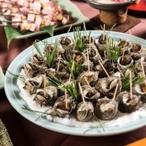 【庄内もっけもっけバイキング】日本海名物!サザエの壺蒸しも食べ放題♪