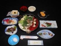 富士櫻櫻鍋プラン一例