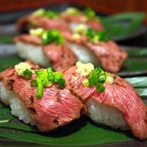 飛騨牛炙り寿司 2貫 黒
