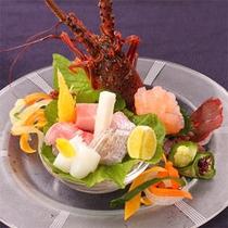土肥漁港より本日水揚げされた特選地魚三種 〜ご夕食のお料理の一例です〜