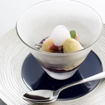 夕食:(デザート)伊豆の旬食材を使ったプレミアムフレンチ会席