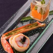 ズワイガニ三昧 〜ご夕食のお料理の一例です〜