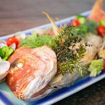 鯛の尾頭付き春祝一例