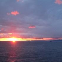土肥 旅人岬より 夕陽