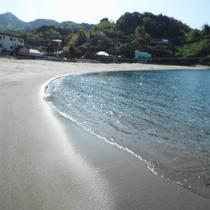 小土肥の砂浜
