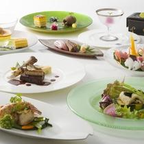 世界三大珍味をお愉しみいただけるスペシャルディナーの一例