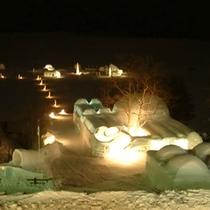 *然別湖コタン夜景