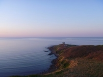 夕陽に染まる日の出岬