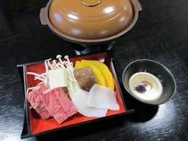 『グルメプラン』陶板焼き(例)※季節により内容は異なります!!