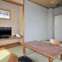 *【客室例(和室)】清潔感のあるお部屋。静かな環境でゆっくりとお休みいただけます。