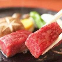 *【飛騨牛のステーキ】熱々の木曽川の河原石の上で焼いてお召し上がり下さい
