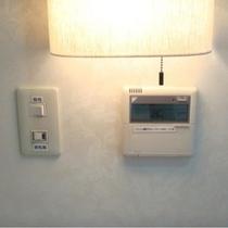 エアコンは各お部屋でご操作できます。