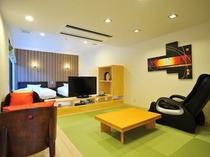 離れのお部屋リビング(A1室63平米)