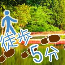 *【おまつの池】宿から徒歩5分の人気の散歩コース。