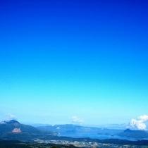 有珠山と洞爺湖