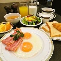 朝食A(アメリカン)1000円