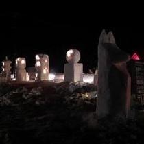 裏磐梯雪まつり灯篭つくり