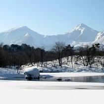 冬・磐梯山