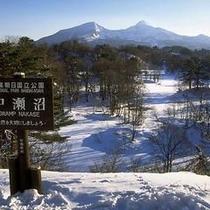 中瀬沼・磐梯山 冬