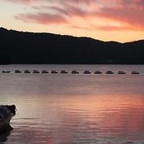 桧原湖夕景
