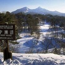 中瀬沼ー磐梯山・冬