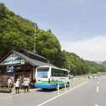 *【林道バスは目の前!】登山以外にもジオサイトと呼ばれる地層の観察スポットが点在☆観光に人気です!